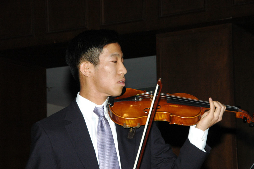 2011 JAMA Scholarship recipient Jason Nagata performs for the audience