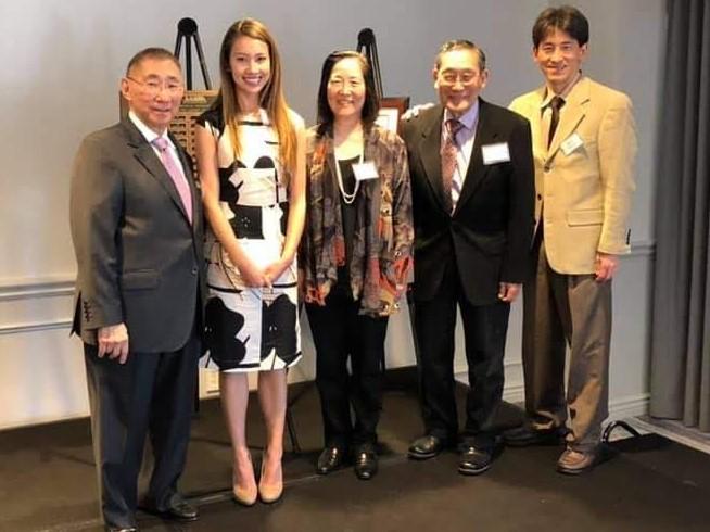 Dr. Sasaki, JAMA 2019 scholarship winner Cora Ormseth, Dr. Kurohara, Itagaki & Goy